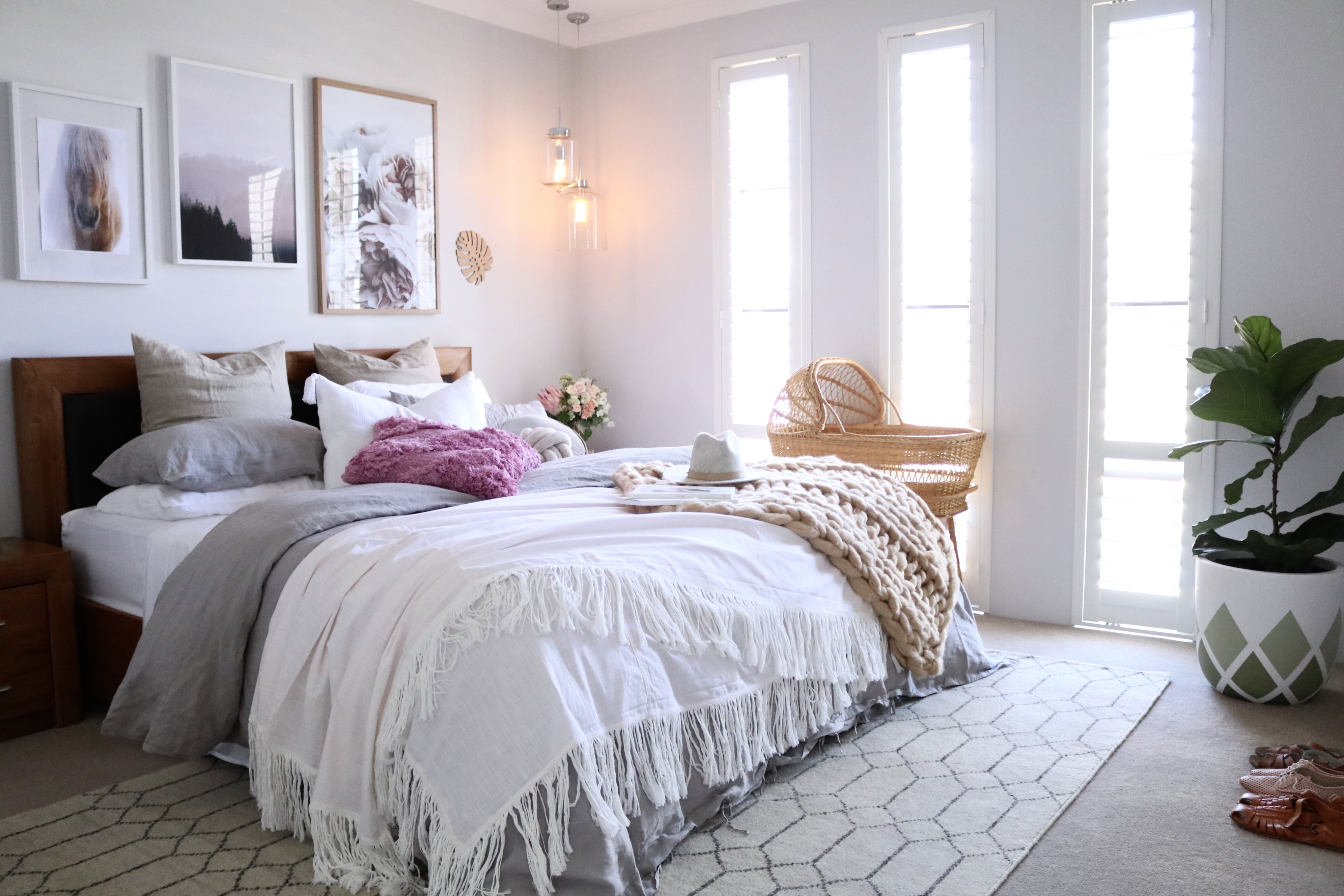 Master Bedroom Up Or Down master bedroom boho makeover- shop the look! – miss kyree loves