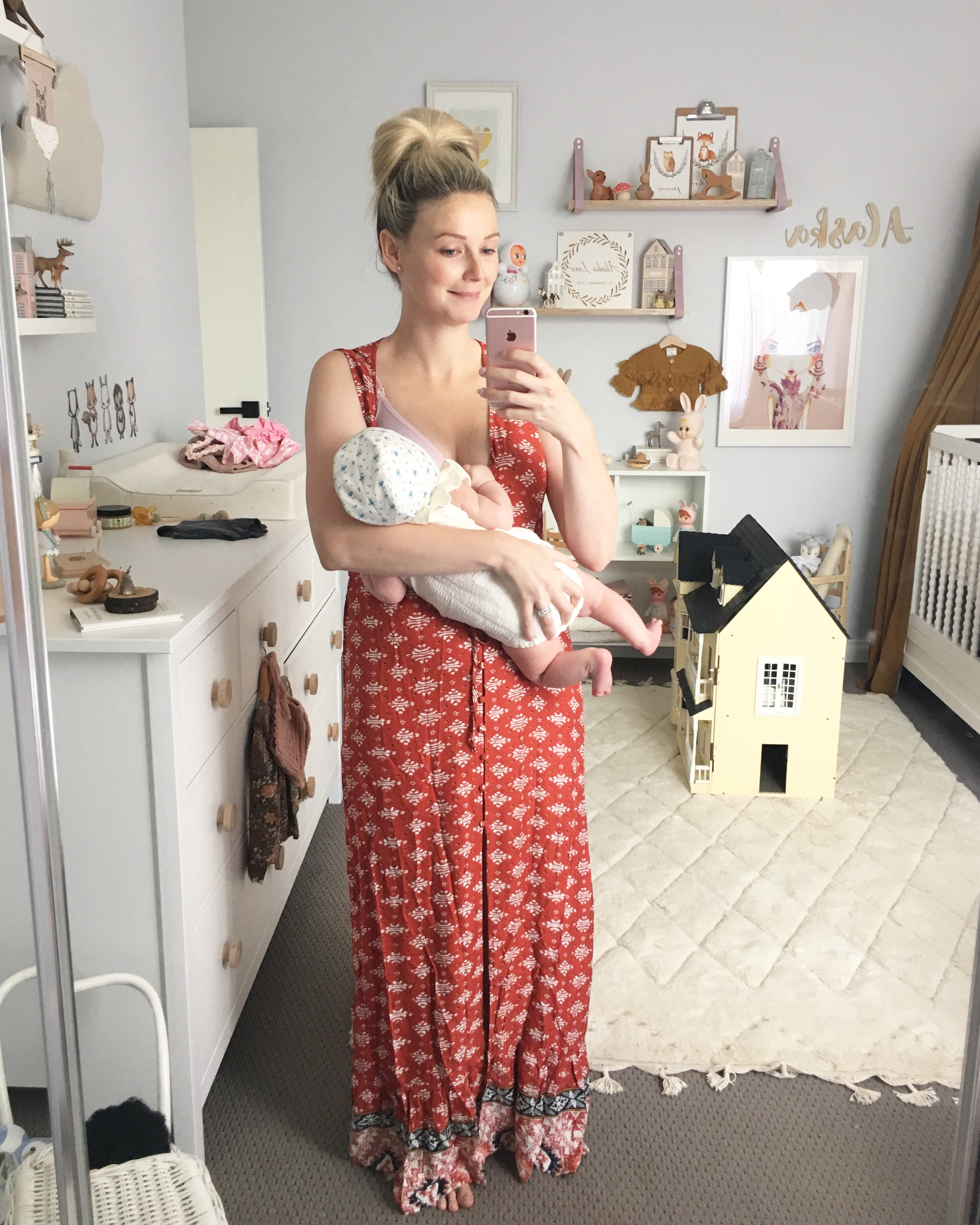b00c8441f72f4 The Self Styler: Fawn Wrap Dress $89 Shop Here. Wrap around style is very  on trend right now which is SUPER awesome for us boobie feeding mamas!